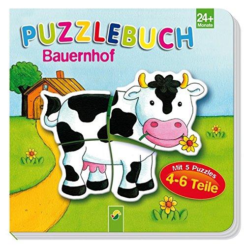 Puzzlebuch Bauernhof: Mit 5 Puzzles á 4-6 Teile
