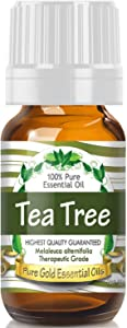 Pure Gold Tea Tree Essential Oil, 100% Natural & Undiluted, 10ml