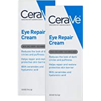 CeraVe Eye Repair Cream | 2 Pack (0.5 Ounce each) | Eye Cream for Dark Circles and Puffiness | Fragrance Free