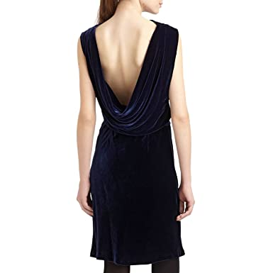 bbf3c9f9d3f Amazon.com  BCBGMAXAZRIA Open Cowl Back Cocktail Dress in Navy Blue ...