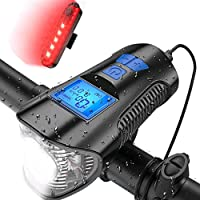 Innoo Tech Bike Light USB Rechargeable Super Bright and Water Resistant with Free Taillight, Other Bike Accessories Like…