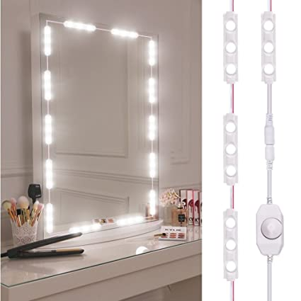 Viugreum Makeup Mirror Lights, Dimmable 60Leds LED Vanity Light Kits, 10FT  1200LM Daylight White