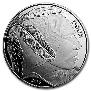 American Büffelleder Indianer Sioux 1 Oz Silber Dollar Euro Münze