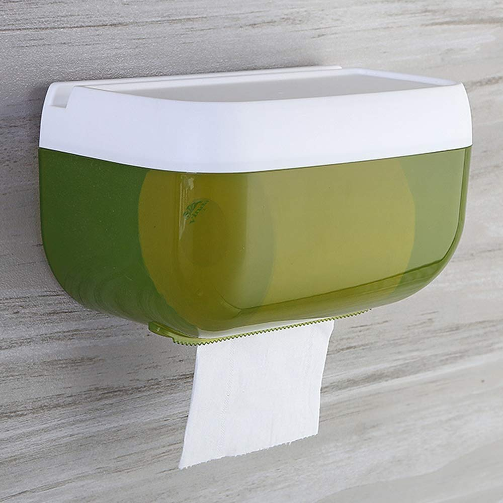 HapHomeSPus Paper Towel Dispenser, Toilet roll Paper Dispenser Tissue Dispenser Wall-Mounted Durable Roll Holder Waterproof dust-Proof Home Office Lavatory Automotive Decoration by HapHomeSPus