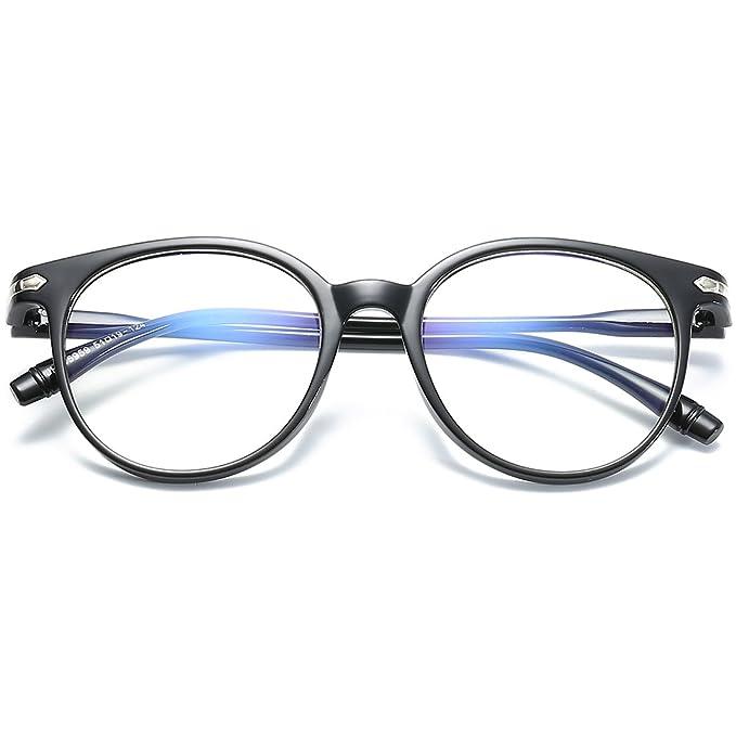 VEVESMUNDO - Montura de gafas - para mujer negro mate 50 ...