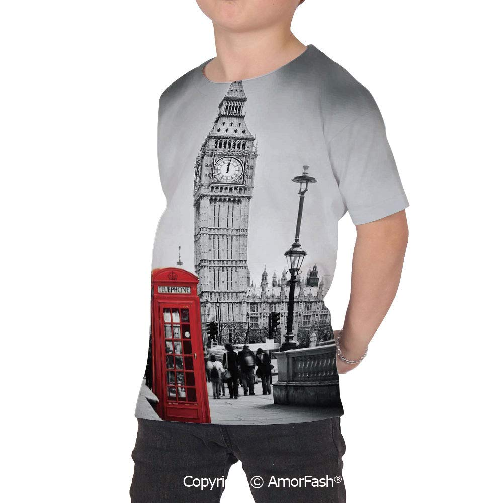 London Original Printed Short Sleeve Shirt Size XS-2XL Big,Famous Telephone Boot