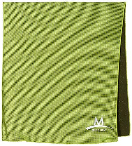 Mission Enduracool Techknit Cooling Towel, High Vis Green, X-Large