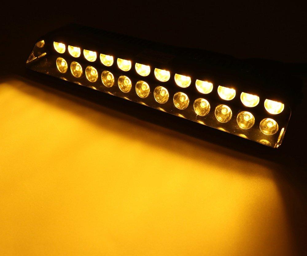 HEHEMM 12/LED Voyant davertissement Pare-Brise de Voiture Clignotant Strobe pour Barre Lumineuse