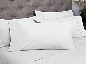 Sweet Home Collection 6 Piece 1800 Count Olivia Branch Microfiber Bedroom Sheet Set, Full, White
