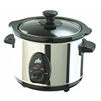 Team Sl5810M2 Slow Cooker, 1 Litre, Stainless Steel, 1 Years Wrranty