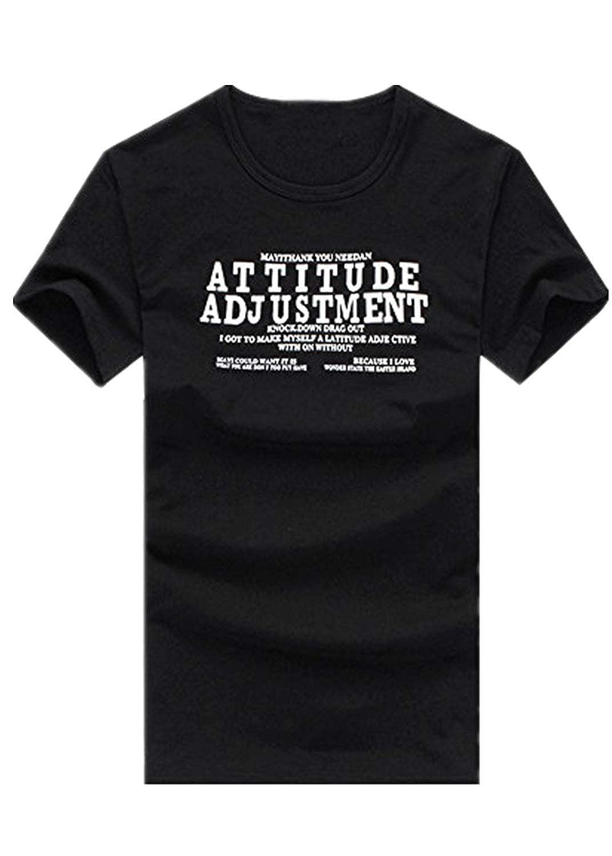 LEORTKS Camiseta Casual Cartas Impresión para Hombre, Hombre Moda ...