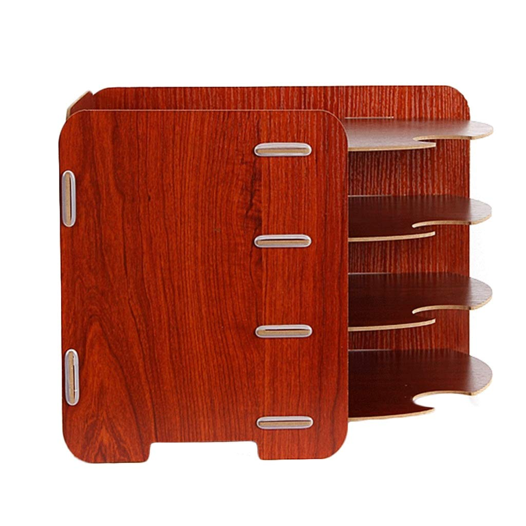 Aktenordner Office-Desktop-Aufbewahrungsbox aus Holz Multi-Layer-Datendatei-Rack B07GVFMTTQ    | Outlet Online