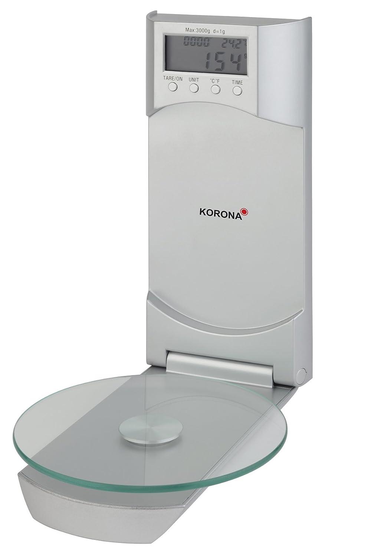 Korona Báscula de cocina Wanda 75870 I eléctrico (I 3 kg I Plata: Amazon.es: Hogar
