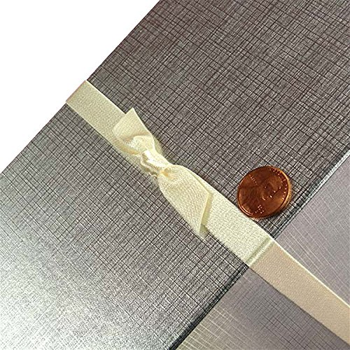 7/16'' X 16'' Antique White Satin Bow Stretch Loops | Quantity: 200 | Max Stretch: 12'' by Paper Mart