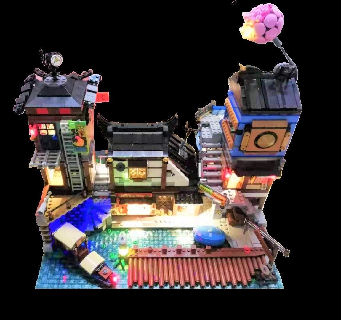Brickled LED Lighting Kit for Lego 70657 Ninjago City Docks