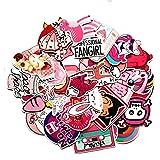 Pink Lollipop Laptop Sticker Pack Cute Girl Rainbow Unicorn Waterproof Vinyls Sticke Decals for Kids Cars Motorcycle Bicycle Skateboard Luggage Bumper Hippie Laser Stickers (50Pcs Pink Sticker)