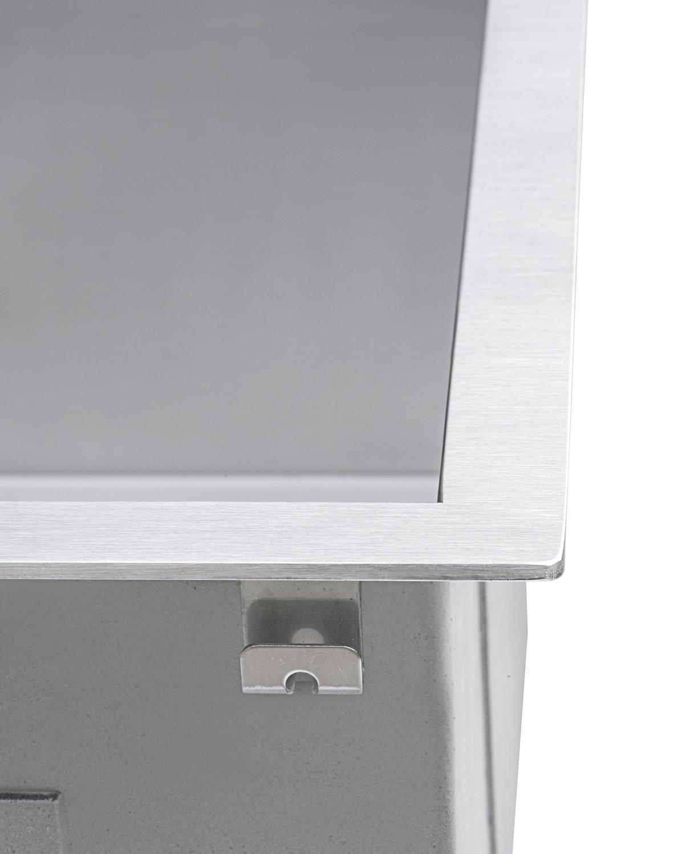 Ruvati 15 x 15 inch Drop-in Topmount Bar Prep Sink 16 Gauge Stainless Steel Single Bowl - RVH8115 by Ruvati (Image #5)