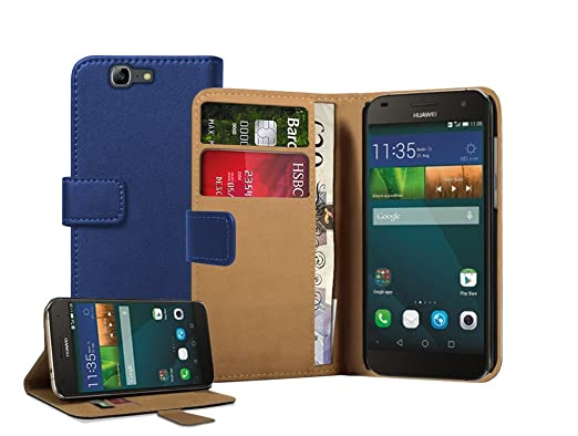 12 opinioni per Membrane- Blu Portafoglio Custodia per Huawei Ascend G7- Wallet Flip Case Cover