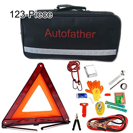 Amazon Com Car Emergency Kit With Jumper Cables Roadside Assistance