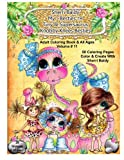 Sherri Baldy My-Besties Tiny & Her Supersaurus Knobby Knees Besties Adult Coloring book for all ages