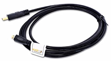 ReadyPlug - Cable HDMI para cámara Canon EOS 77D DSLR 1892C001AA (audio/visual/