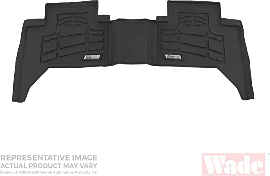 1 Pair Westin Wade 72-110027 Black Sure-Fit Front Right And Left Molded Floor Mat Set