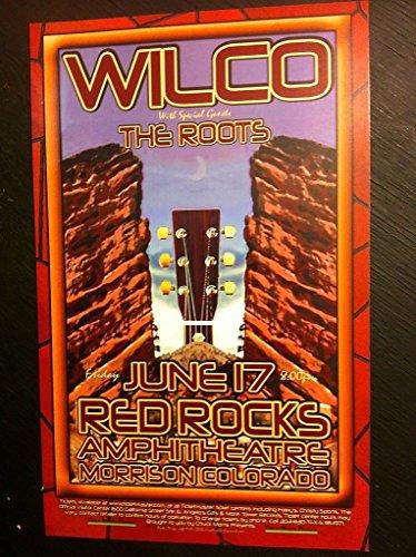 Wilco The Roots Jeff Tweedy Red Rocks Rare 2005 Ltd Ed Concert Tour Gig Poster (Ed Ltd Rare)