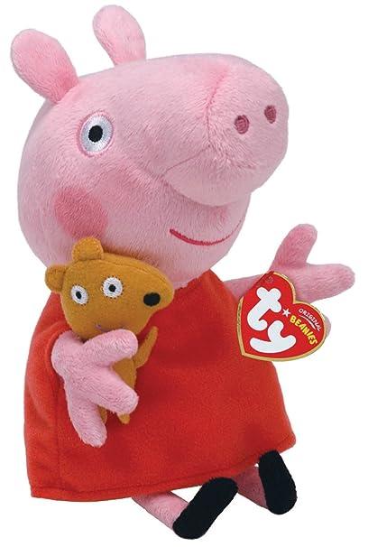 Amazon.com  Ty Beanie Babies Peppa Pig Regular Plush  Toys   Games e2cdc434c73f