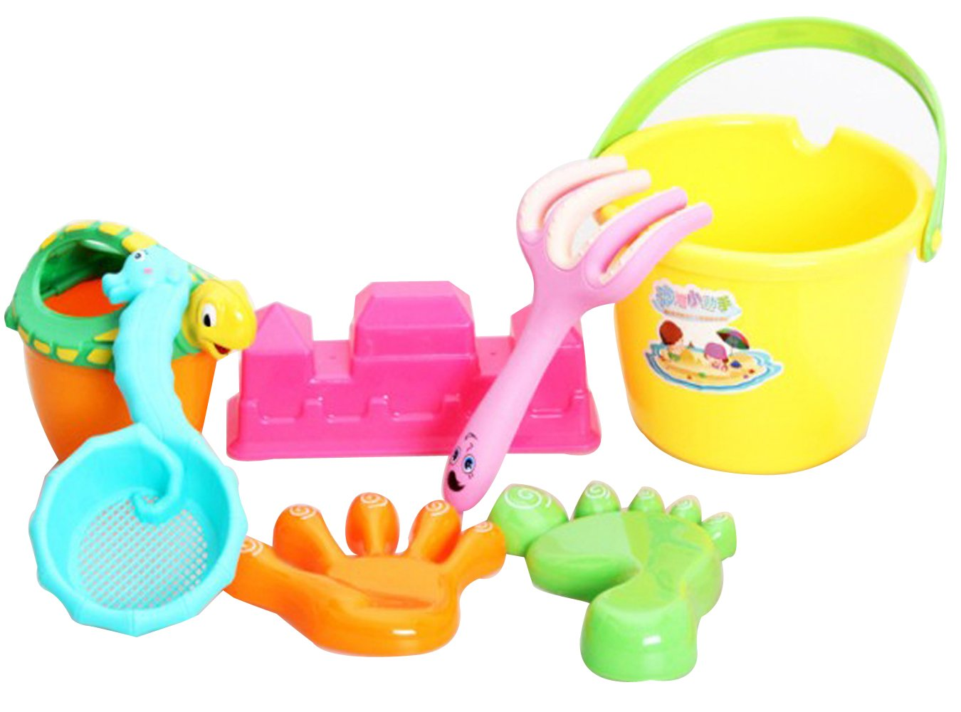 Childern 's Beach Toysスーツ、再生砂ツールeight-pieces   B00NQV4Y9S