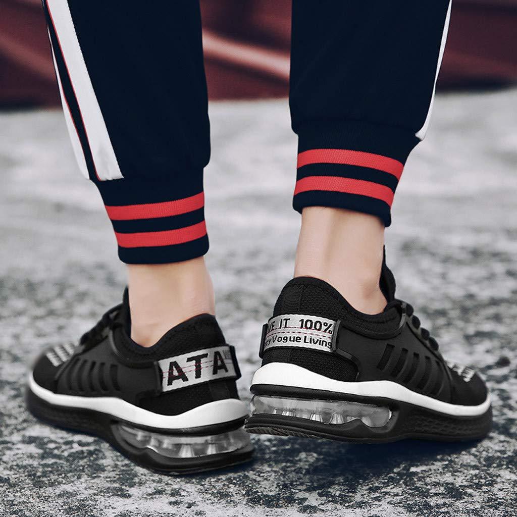 Lovygaga Fashion Men Casual Breathable Mesh Lightweight Air Cushion Bottom Sneakers Students Brief Wild Running Shoes White by Lovygaga (Image #3)
