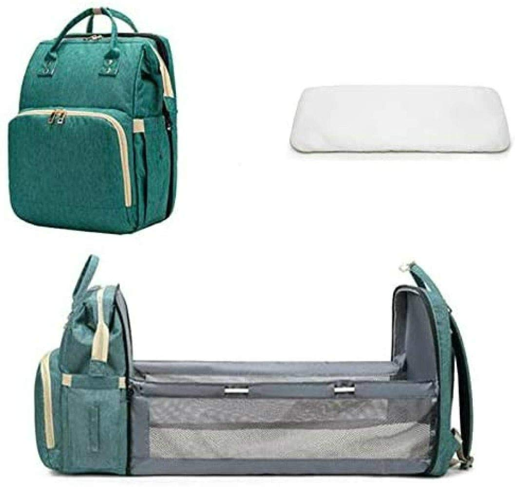 Portable Diaper Changing Station Mummy Bag Backpack,upgrade Portable Bassinets For Baby,baby Nest With Mattress,for A Weekend Trip Or A Seaside Holiday During The Day Multifunctional Baby Travel Bed
