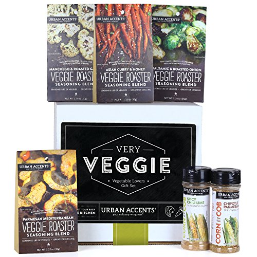 Urban Accents VERY VEGGIE Ultimate Vegetable Spice and Seasoning Gift Set Set of 6  Culinary Seasoning Set for Vegetables Perfect Gift for Weddings Housewarmings or Any Occasion