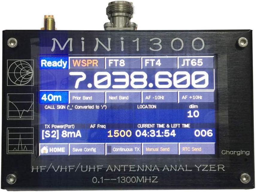 MINI1300 HF/VHF/UHF ANT SWR Antenna Analyzer 0.1-1300MHz with TF ...