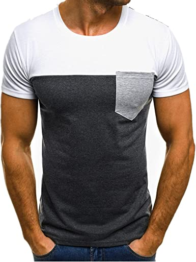 FAMILIZO Camisetas Manga Corta Hombre Moda Camisetas Hombre T Shirts Camisetas Hombre Sport Camisetas Hombre Algodón Camisetas Hombre Verano Camisetas Hombre Largas Tops: Amazon.es: Ropa y accesorios