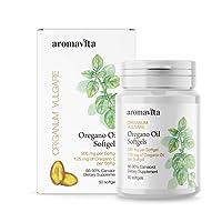 Aromavita Oregano Oil Capsules – Non GMO and Gluten Free, Greek Oregano Oil Containing...