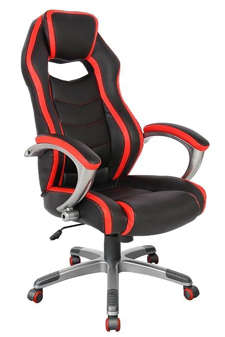 Racing Estilo Gaming silla ergonómica oficina ejecutiva silla de respaldo alto): ordenador giratorio silla