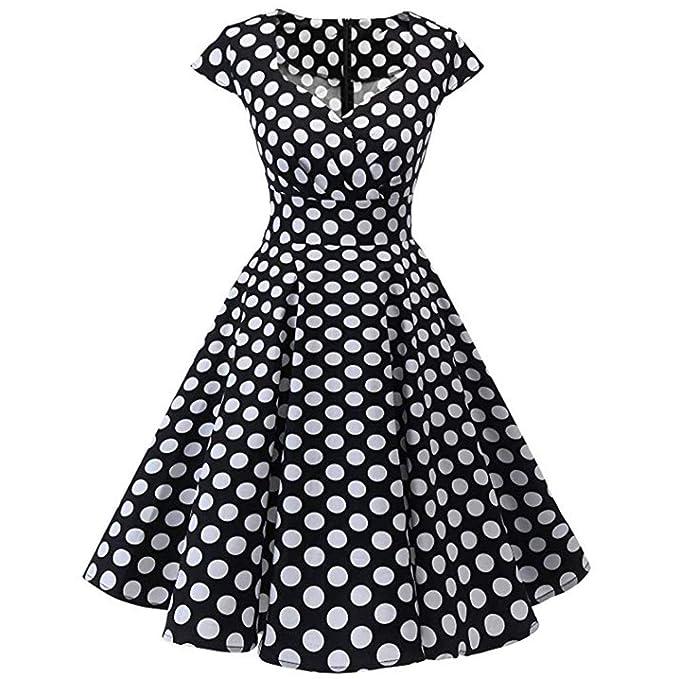 c456f75ce8753 Pandaie-Womens Dresses, Women Vintage Short Sleeve O Neck Evening ...