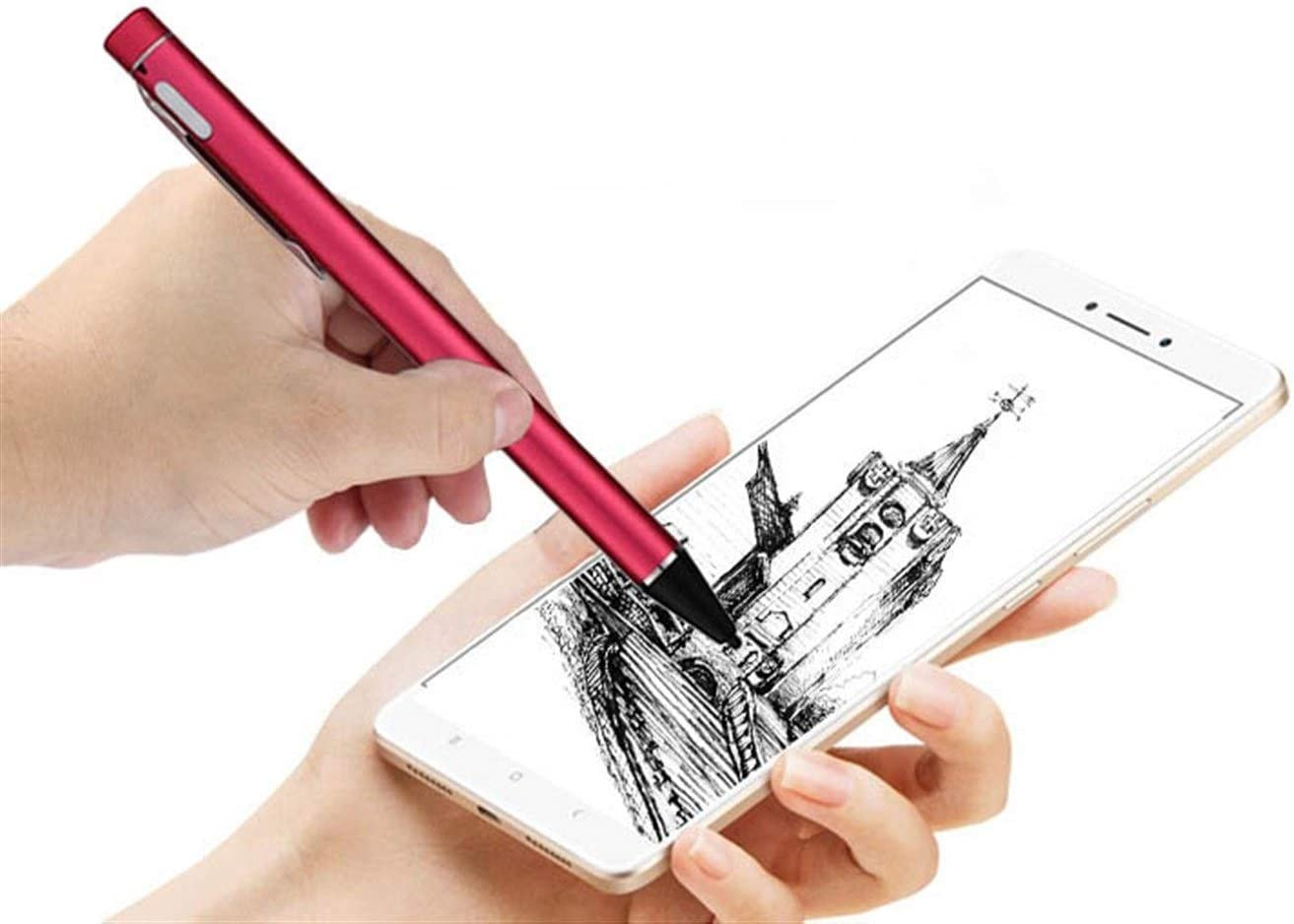 iOS Tablet Universal Mobile Phone Capacitive Pen Fine Head Painting Pen Android Color : Gold Touch Touch Screen Pen