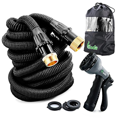 Gada 100 Foot Expandable Garden Hose,Magic Hose ,Collapsible Flexible with 8-way Spray Nozzle,Rubber Washers and Plastic Connectors