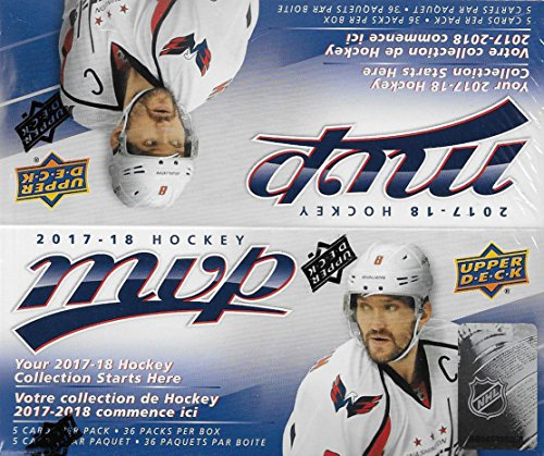 2017 2018 Upper Deck MVP NHL Hockey Series Unopened Retail Box of 36 Packs with Chance for Stars, #1 Draft Picks and Rookie Cards (Mvp Hockey Cards)