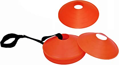 """Cintz 2"""" Orange Field Cone Markers, Set of 20, with a carry strap"""