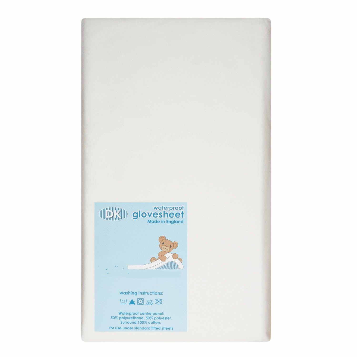 Waterproof Soft Cotbed 140x70cm Fitted Sheet - 100% Cotton Surround With Waterproof Polyurethane Centre Panel - HIGH QUALITY BABY best BUYS BBB-Fitted CB140X70WP