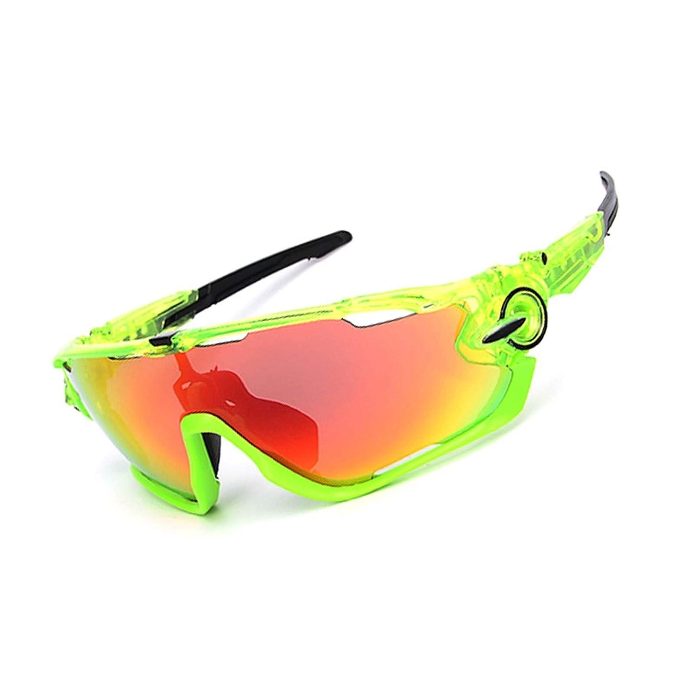 Lafeil Radbrille Wechselgläser Fahrradbrille Damen Damen Herren Männer Und Frauen Brille Polarisierten Sonnenbrillen Outdoor Reitbrille Dreiteiligen Anzug
