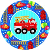 Fire Engine Truck Fun Birthday Party Supplies for 16 Guests