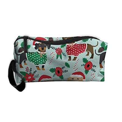 60%OFF Unisex Christmas Sweaters Cute Dachshunds Portable Buggy Bag Hanging Travel Bag Makeup Clutch Bag Multifunction Cosmetic Bags Travel Organizer Bag Storage Bag Pouch Multi Pocket