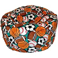 Ahh! Products Sports Balls Anti-Pill Fleece Washable Large Bean Bag Chair
