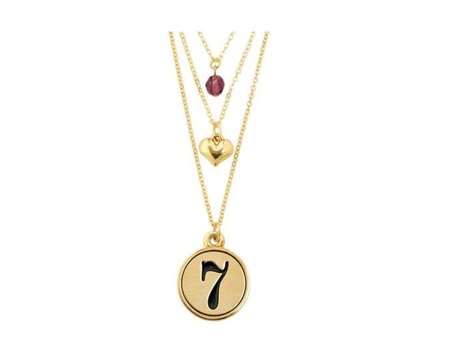 Gold-Plated ELEGANI Layered Gods Perfection Necklace Religious Pendant Charm Necklace Jewelry for Women Gift Idea