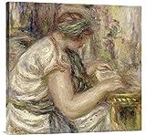 Global Gallery GCS-279693-30-142 ''Pierre Auguste Renoir Woman In An Arabian Blouse Reading'' Gallery Wrap Giclee on Canvas Wall Art Print