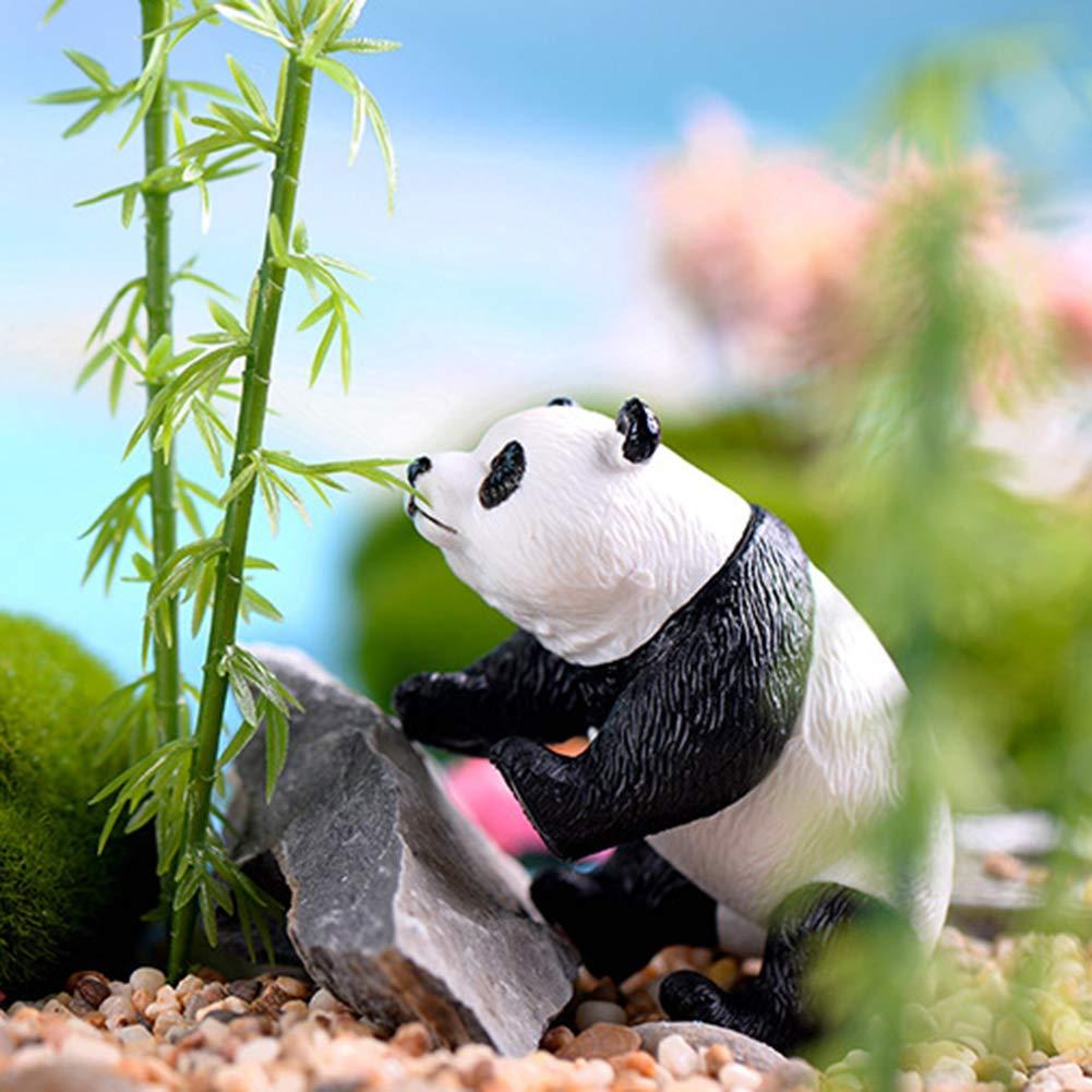 yingyue Cute Miniature Panda Animal Figurines Landscape DIY Garden Dollhouse Ornament Gift Desk Decorations S