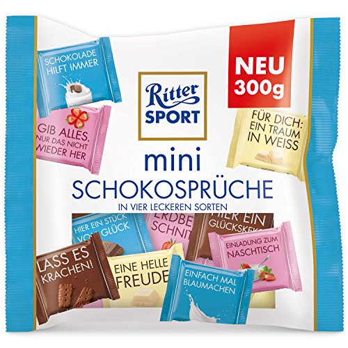 Ritter Sport Mini Mix Chocolate Proverbs 18 Pieces (300g)